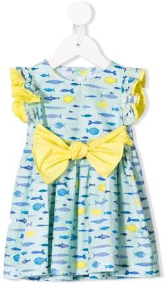 Il Gufo Sleeveless Fish Print Dress