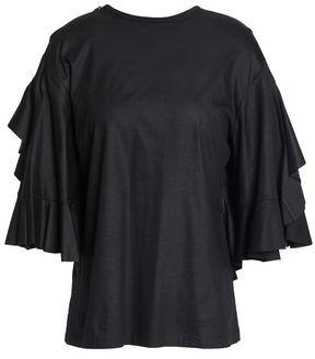 Ellery Jeremiah Cutout Ruffled Cotton-jersey T-shirt