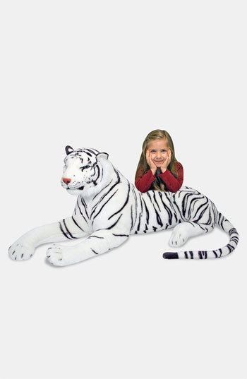 Melissa & Doug Toddler Oversized Plush Stuffed White Tiger