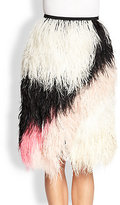 Proenza Schouler Ostrich Feather Skirt