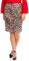 Vince Camuto Plus Exotic Animal Pencil Skirt