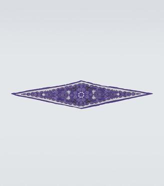 Acne Studios Vettori cotton-silk paisley scarf