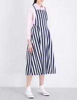 Chocoolate Striped cotton overalls