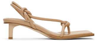 Dion Lee Beige Knot Low Heeled Sandals