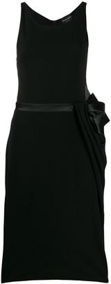 Emporio Armani Bow-Tie Belt Midi Dress