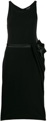 Emporio Armani bow-tie belt midi dress