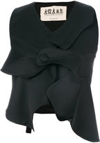 Awake asymmetric waistcoat - women - Spandex/Elastane/Viscose/Virgin Wool - M