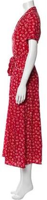 HVN Silk Long Dress Red