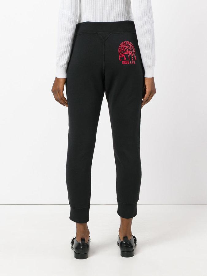 DSQUARED2 slim logo track trousers