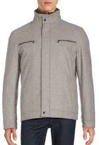 Michael Kors Textured Long Sleeve Jacket