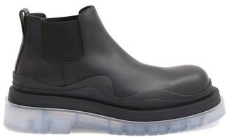 Bottega Veneta Tire Transparent-sole Leather Chelsea Boots - Black Multi