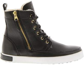 Blackstone Shearling-Lined Leather High-Top Sneakers