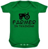 1StopShops Farmer In Training Baby Bodysuit Emerald with Black Print