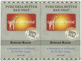 Out of Africa Organic Shea Butter Bar Soap - Africa Black - 4 oz - 2 pk