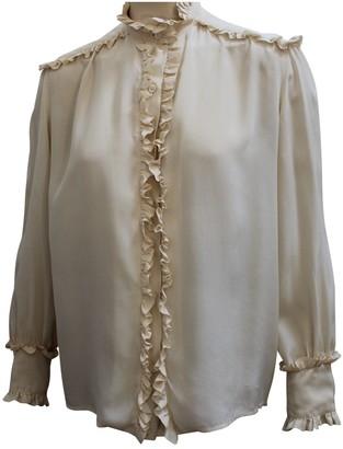 Jean Patou Beige Silk Top for Women Vintage