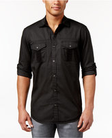INC International Concepts Men's Micro-Grid Pieced Shirt, Only at Macy's
