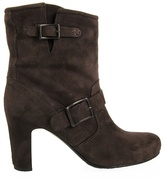 ROBERTO DEL CARLO - Suede ankle boots with buckles