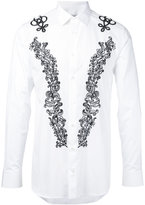 Alexander McQueen floral stitch shirt - men - Cotton - 15 1/2
