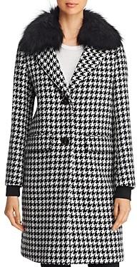 Dawn Levy Noelle Fur Trim Coat - 100% Exclusive