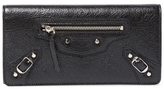 Balenciaga Metallic Edge Leather Continental Wallet