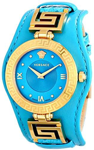 Versace Women's VLA080014 V-SIGNATURE Analog Display Swiss Quartz Turqoise Watch