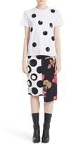 MSGM Women's Sequin Polka Dot Cotton Tee