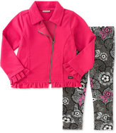 Calvin Klein Baby Girls' 2-Pc. Moto Jacket & Floral-Print Leggings Set