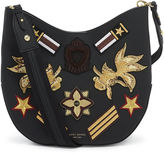 Henri Bendel West 57th Military Patch Crossbody Hobo