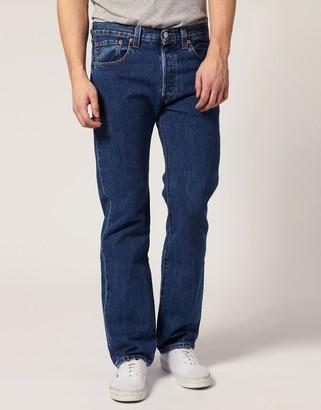 Levi's Levis Jeans 501 Straight Stone Wash