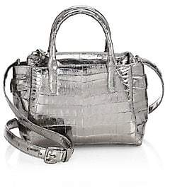 Nancy Gonzalez Women's Small Cristie Metallic Crocodile Satchel