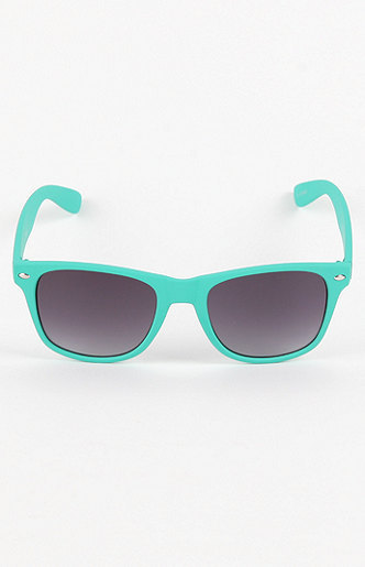 With Love From CA Turquoise Bright Sunglasses