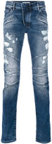 Pierre Balmain distressed biker jeans - men - Cotton/Spandex/Elastane - 28