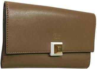 Fendi Beige Leather Wallets