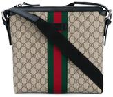 Gucci web GG messenger bag - men - Cotton/Leather/Nylon - One Size