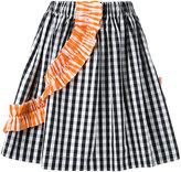 MSGM striped pleated skirt - women - Cotton - 38