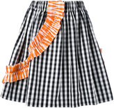 MSGM striped pleated skirt - women - Cotton - 42