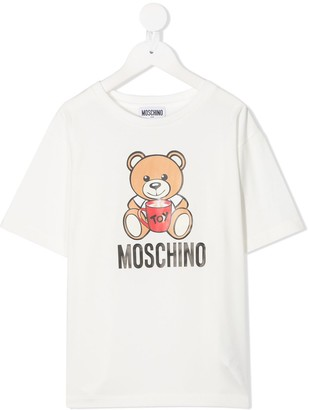 MOSCHINO BAMBINO teddy print cotton T-shirt