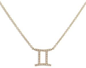 Adina's Jewels Adinas Jewels Pave Gemini Pendant Necklace, 16-18