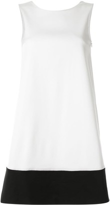Paule Ka Contrast Flared Dress