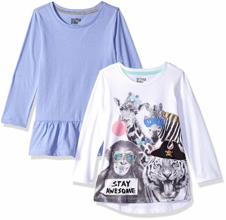 Spotted Zebra Amazon Brand Little Girls' 2-Pack Long-Sleeve Tunic Tops