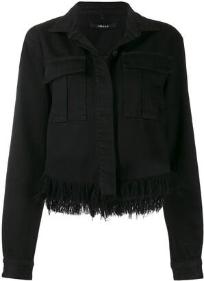 J Brand cropped raw edge denim jacket