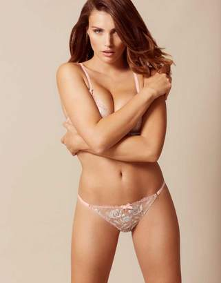Agent Provocateur UK Sparkle Thong Nude And Silver