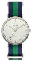 Timex Weekender Fairfield Slip Thru Nylon Strap Watch - Blue/Green TW2P90800JT