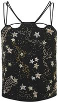 Topshop Star embroidered crop camisole top
