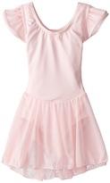 Capezio Flutter Sleeve Dress (Toddler/Little Kids/Big Kids)