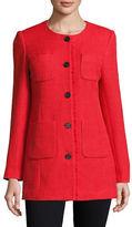 Karl Lagerfeld Paris Tweed Topper Jacket