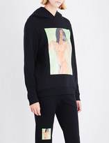 Christopher Kane Portrait-print cotton hoody