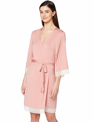 Iris & Lilly Amazon Brand Women's Long Cotton Dressing Gown