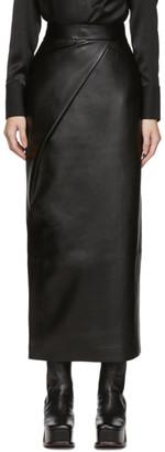 MATÉRIEL Black Faux-Leather Skirt