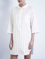Bodas Shadow Stripe cotton nightshirt